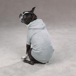 View Image 2 of Fleece Lined Dog Hoodie by Zack & Zoey - Gray