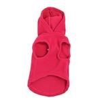 View Image 2 of Fleece Vest Hoodie Dog Harness by Gooby - Pink