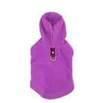 View Image 1 of Fleece Vest Hoodie Dog Harness by Gooby - Purple