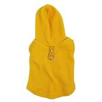 Fleece Vest Hoodie Dog Harness by Gooby - Yellow