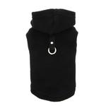View Image 3 of Fleece Vest Hoodie Dog Harness by Gooby - Black