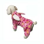 View Image 1 of Floral Bunny Hooded Dog Jumpsuit by Klippo