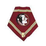 View Image 1 of Florida State Seminoles Dog Bandana - Crimson