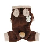 View Image 2 of Fluffy Bunny Dog Jumpsuit by Puppia - Brown