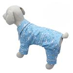 View Image 1 of Fluffy Clouds and Stars Dog Pajamas by Klippo - Light Blue