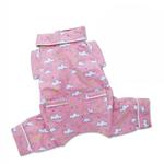 View Image 2 of Fluffy Clouds and Stars Dog Pajamas by Klippo - Pink