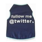 View Image 1 of Follow Me @ Twitter Dog Tank Top - Navy