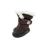 View Image 1 of FouFou Duggz Dog Shoes - Chocolate Brown
