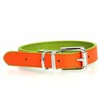 View Image 4 of FouFou Reversible Dog Collar - Green/Orange
