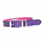 View Image 2 of FouFou Reversible Dog Collar - Purple/Fuchsia