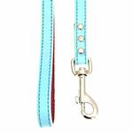 View Image 2 of FouFou Reversible Dog Leash - Blue/Red