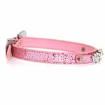 View Image 3 of Foxy Glitz Dog Collar with Letter Strap - Pink