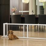 View Image 1 of Free Standing Pet Gate - Origami White