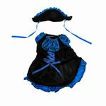 View Image 1 of French Maid Dog Dress Costume - Blue
