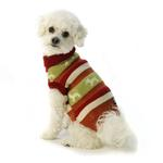 View Image 1 of Fritzy's Fair Isle Dog Sweater - Orange Spice