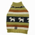 View Image 2 of Fritzy's Fair Isle Dog Sweater - Winter Pear