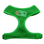 View Image 1 of From Santa Tag Mesh Dog Harness - Green