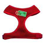 View Image 1 of From Santa Tag Mesh Dog Harness - Red