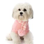 View Image 1 of Frosty's Snowflake Dog Scarf - Peaceful Pink