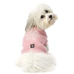 View Image 1 of Frosty's Snowflake Dog Sweater - Peaceful Pink