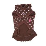 View Image 2 of Funky Pinky Dog Hoodie by Pinkaholic - Brown