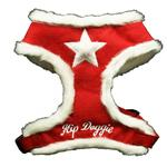 View Image 1 of Fur Star Harness by Hip Doggie - Red