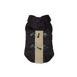 View Image 1 of Furry Toggle Dog Coat by Dogo - Black