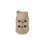 View Image 1 of Furry Toggle Dog Coat by Dogo - Tan