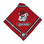 View Image 1 of Georgia Bulldogs Dog Bandana - Red