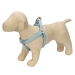 View Image 1 of Gingham Ribbon Dog Harness - Blue