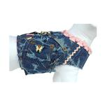 View Image 2 of Girlie Girl Denim Dog Vest w/ Leash