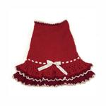 Glamourous Reds Layered Knit Dog Dress by Klippo