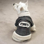 View Image 2 of Glen Plaid Sherpa Dog Coat