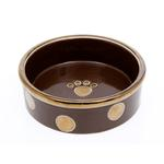 View Image 1 of Glitzy Dots Dog Bowl - Mocha