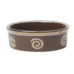 View Image 1 of Glitzy Swirls Dog Bowl - Espresso Brown