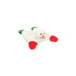 View Image 1 of GoDog Snowman Flatty Dog Toy with Chew Guard