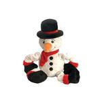 View Image 1 of GoDog Stretch Snowman Dog Toy with Chew Guard