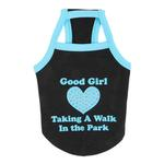View Image 2 of Good Girl Dog Shirt by Puppia - Black