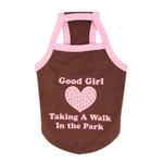View Image 1 of Good Girl Dog Shirt by Puppia - Brown