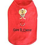 View Image 1 of Got R Done Harness Shirt - Red
