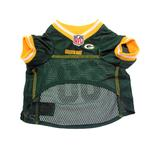 View Image 4 of Green Bay Packers Officially Licensed Dog Jersey - Yellow Trim