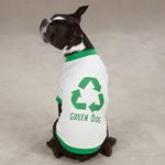 View Image 2 of Green Dog T-Shirt by Casual Canine - White