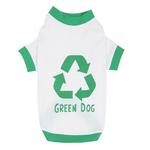 Green Dog T-Shirt by Casual Canine - White