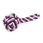 View Image 1 of Griggles Top Knot Tug Toy - Ultra Violet