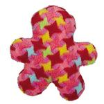Grriggles Bright Houndstooth Men Dog Toy - Red