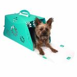 View Image 1 of Guardian Gear Blossom Color-Me Pet Crate - Sea Glass