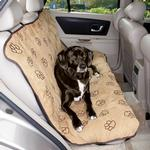 View Image 1 of Cruising Companion Pawprint Seat Cover - Camel