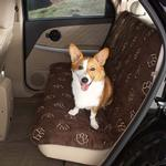 View Image 1 of Guardian Gear Pawprint Seat Covers - Chocolate