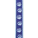 Guardian Gear Two Tone Pawprint Leash - Blue
