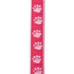 View Image 1 of Guardian Gear Two Tone Pawprint Leash - Pink